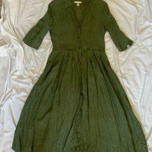 Bagutta green linen dress XS